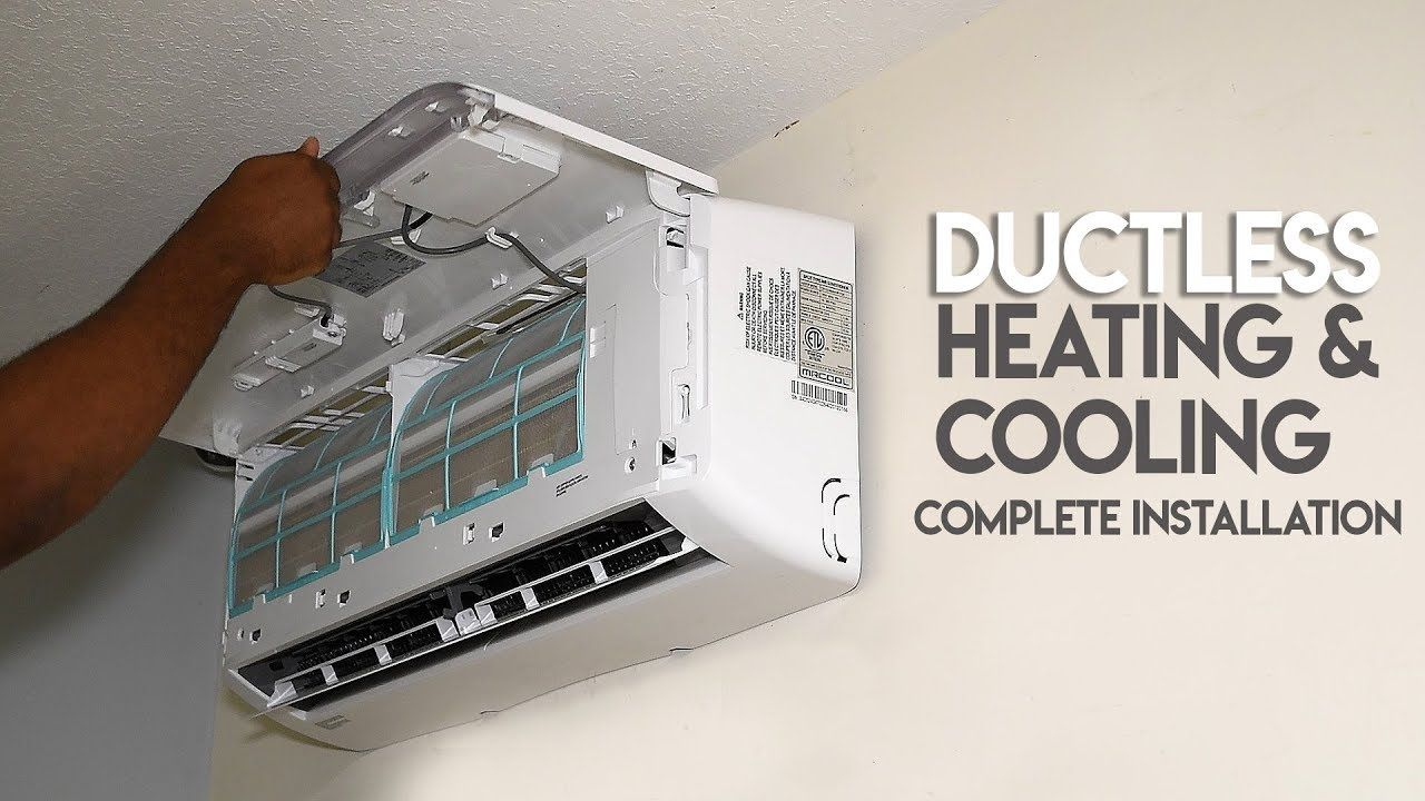 How to install ductless ac heating system true diy