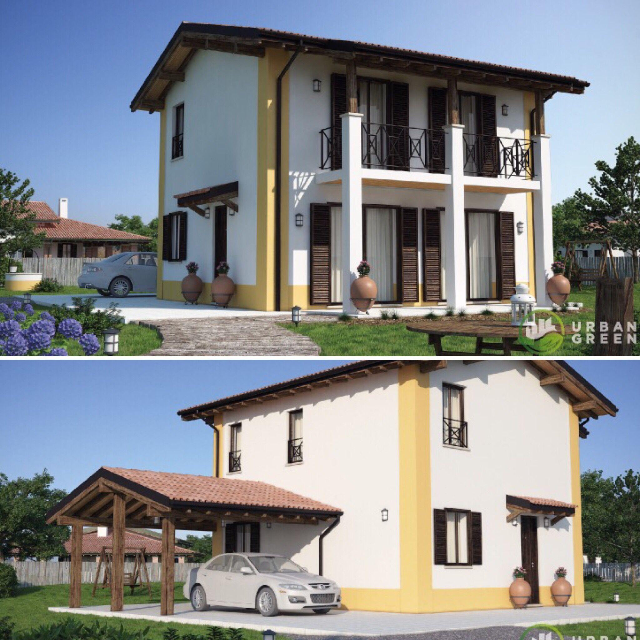 Villa Architecturedesign: Casa In Legno Bipiano URB04 - Urban Green