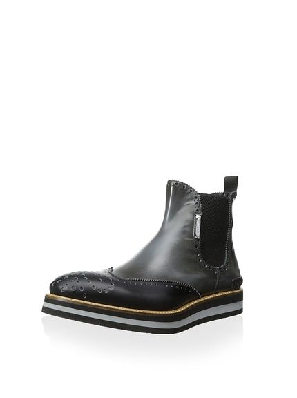 alessandro dell'Acqua Men's Arthur Wingtip Chelsea Boot with Thick Sole,  http:/