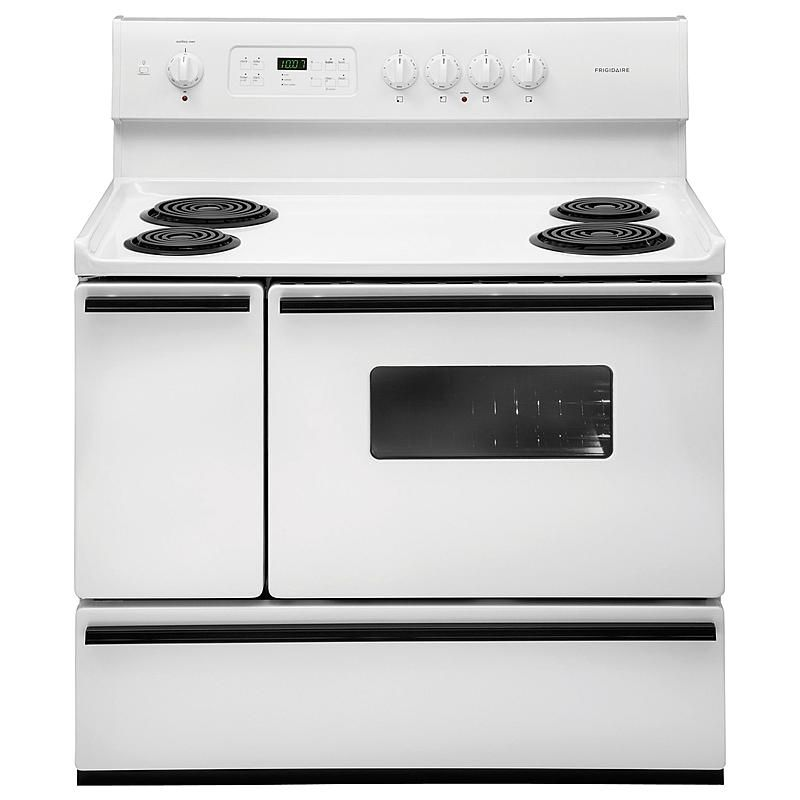 Frigidaire Ffef4015lw 5 4 Cu Ft 40 Double Oven Electric Range Double Oven Electric Range Double Oven Freestanding Double Oven