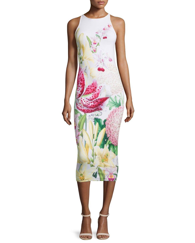 aba6ffa47aff6 Julee Floral-Print Midi Dress