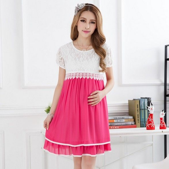 2colors Maternity Dresses Cotton Blends Clothing Pregnant ...