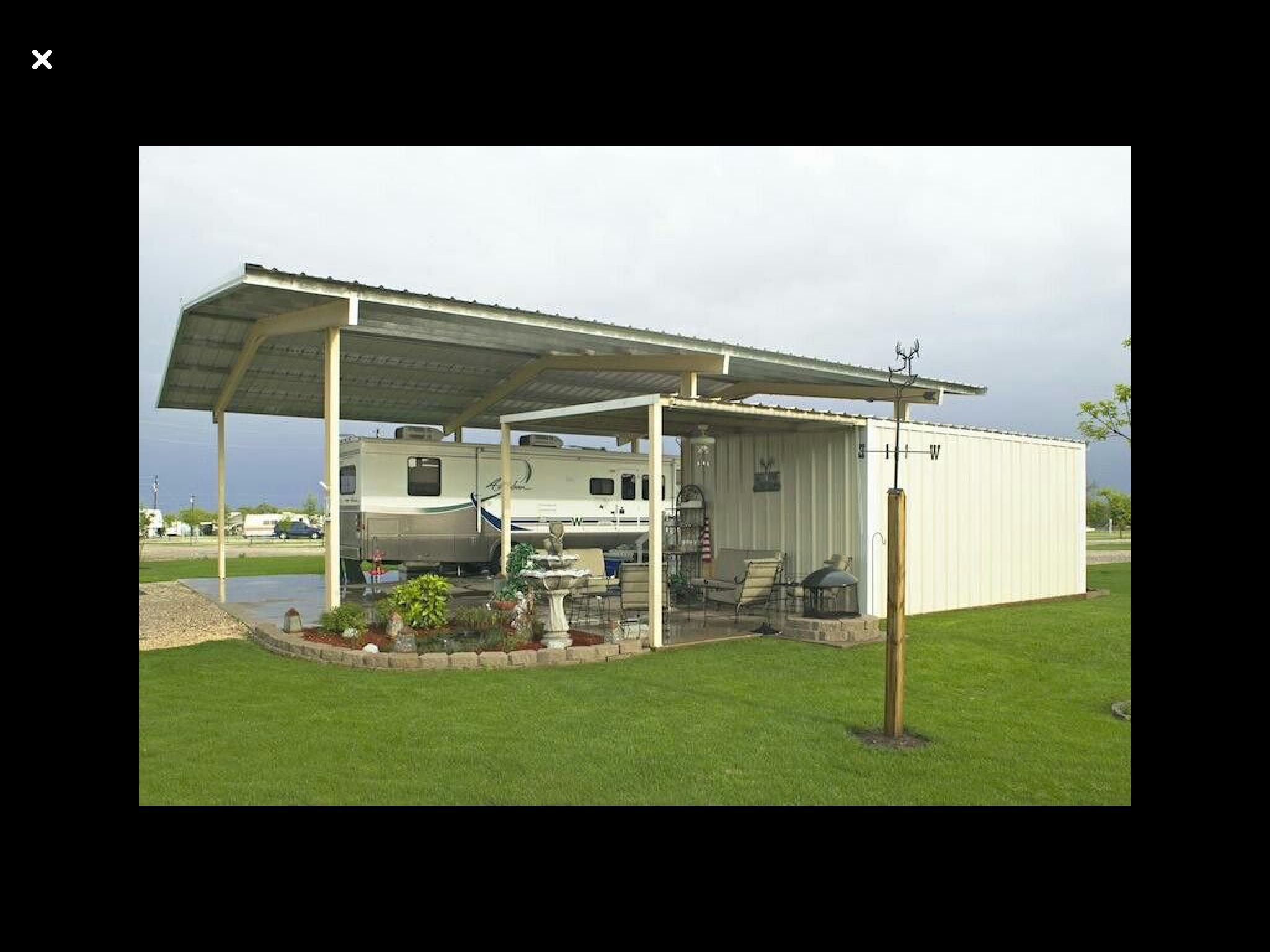 Pin By Bri On Port Homes Decks Etc Rv Shelter Rv Homes Rv