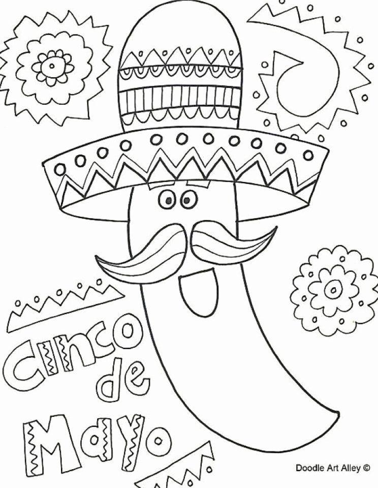 41+ Cinco de mayo color sheets printable ideas