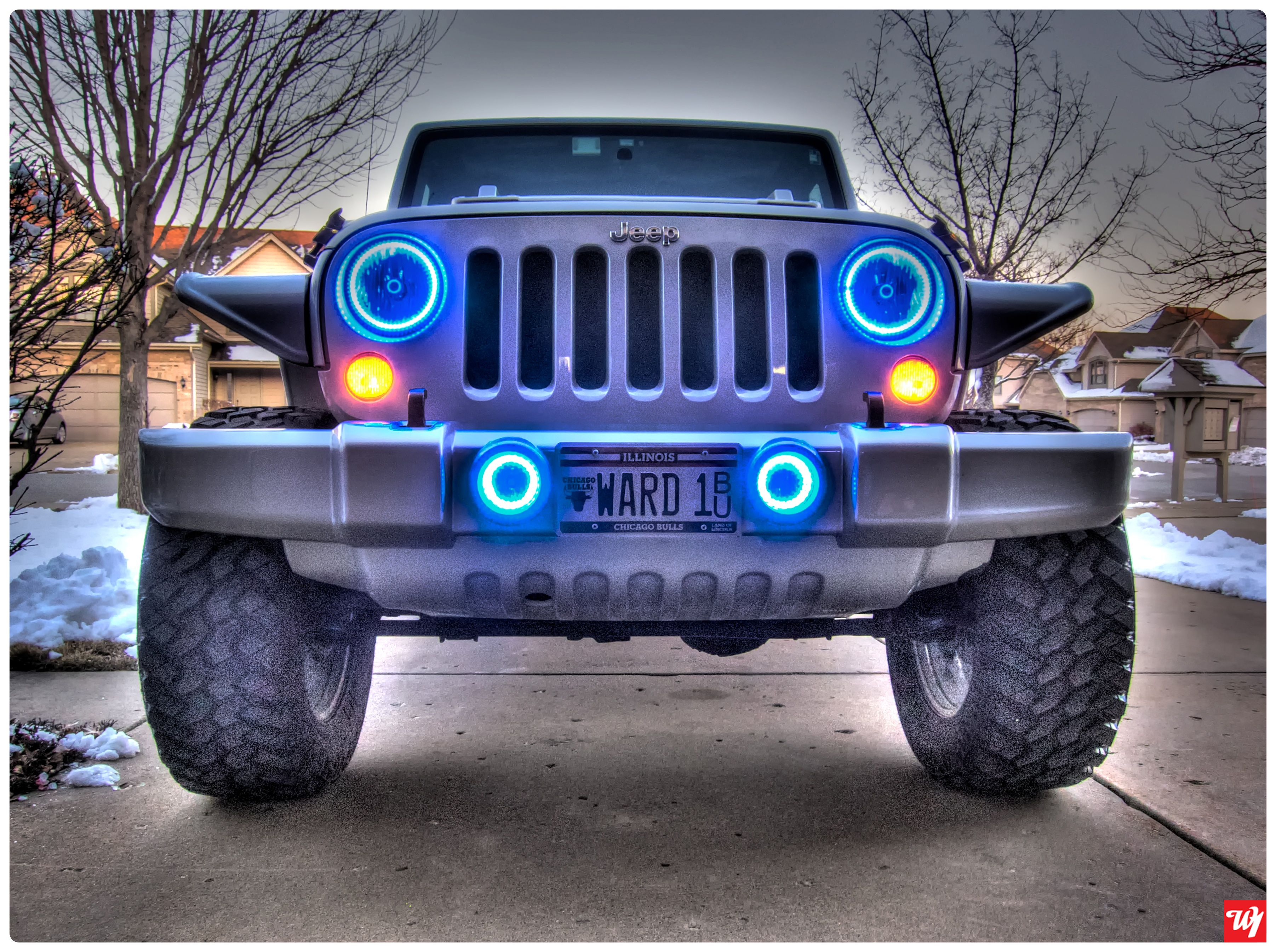 Jeep Halo S Blue Jeep Jeep Front Bumpers Jeep Wrangler
