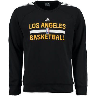 Men S Los Angeles Lakers Adidas Black On Court Graphic Crew Fleece Sweatshirt Sweatshirts Sweatshirt Fleece Black Sweatshirts