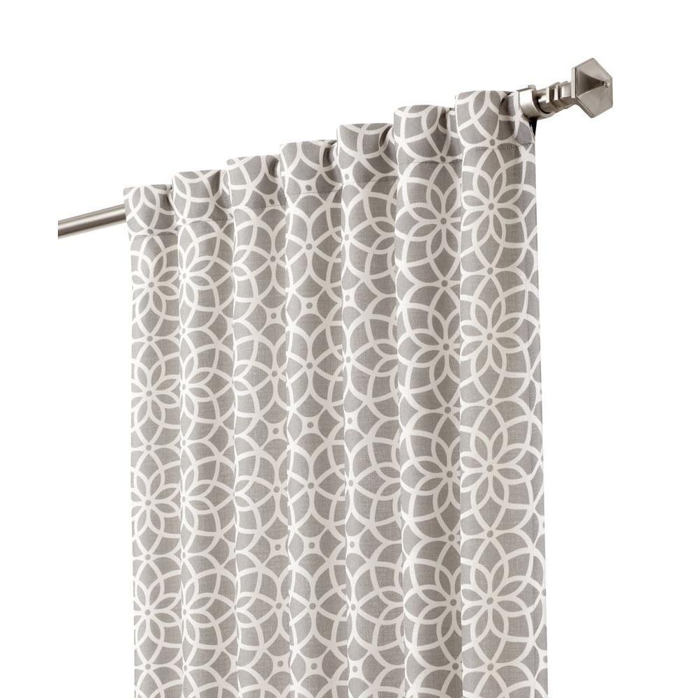 Superior Martha Stewart Living Blackout Cement Gray Full Bloom Back Tab Curtain