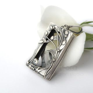 dora design art jewelry, metal clay