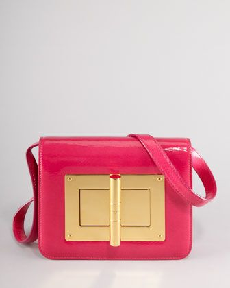 Natalia Medium Hot Pink Patent Shoulder Bag by Tom Ford at Neiman Marcus.  Original: EUR 3,002.28 NOW: EUR 2,011.29 25% Off: EUR 1.508,47