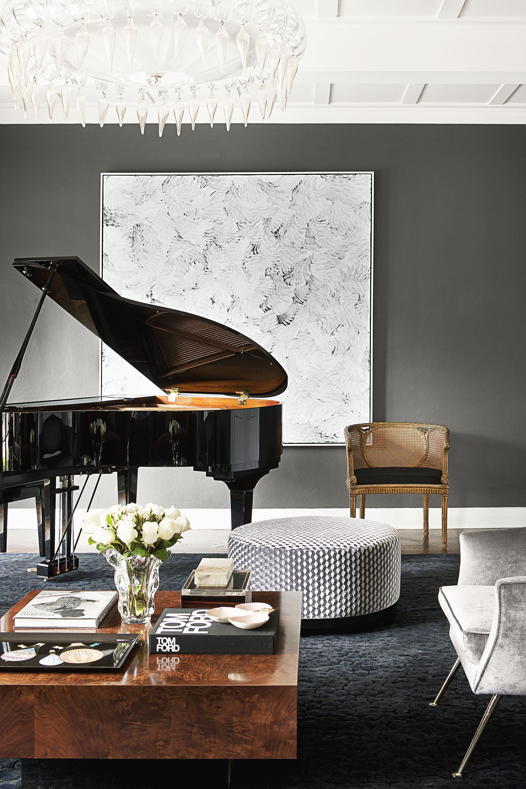 The Formal Sitting Cum Music Room In The Home Designed By