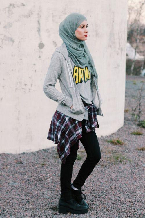 Grunge Hijab Styles \u2013 15 Best Grunge Hijab Looks This Season
