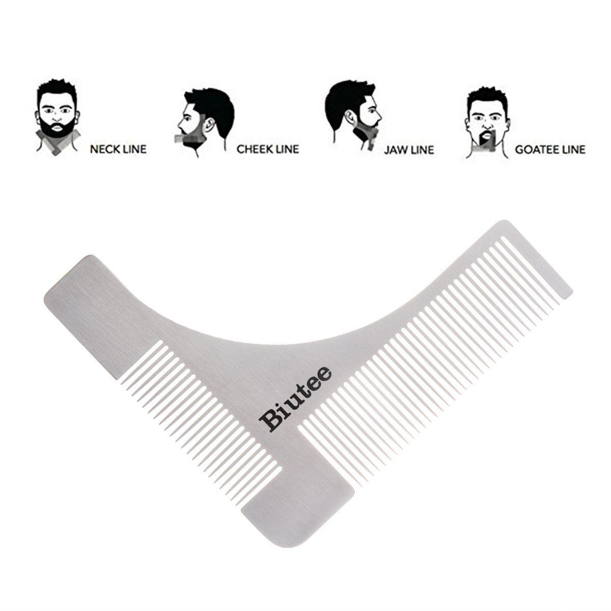 Biutee Rasier Schablone Fur Die Perfekt Bartform Rasur Der Bartlinie Bart Styling Vorlage Barttrimmer Schablone Rasurvorlage Bartformen Bart Trimmen Bartlinie