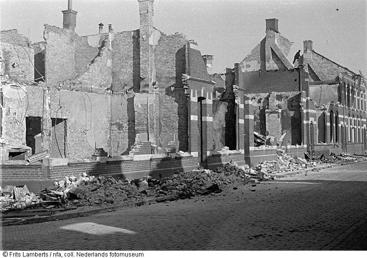 gebombardeerd in de oorlog 1944