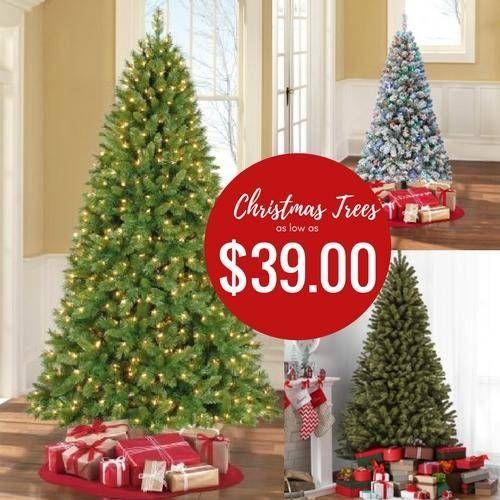 Walmart Christmas Trees On Sale Best Deals Cheap Pre Lit Trees