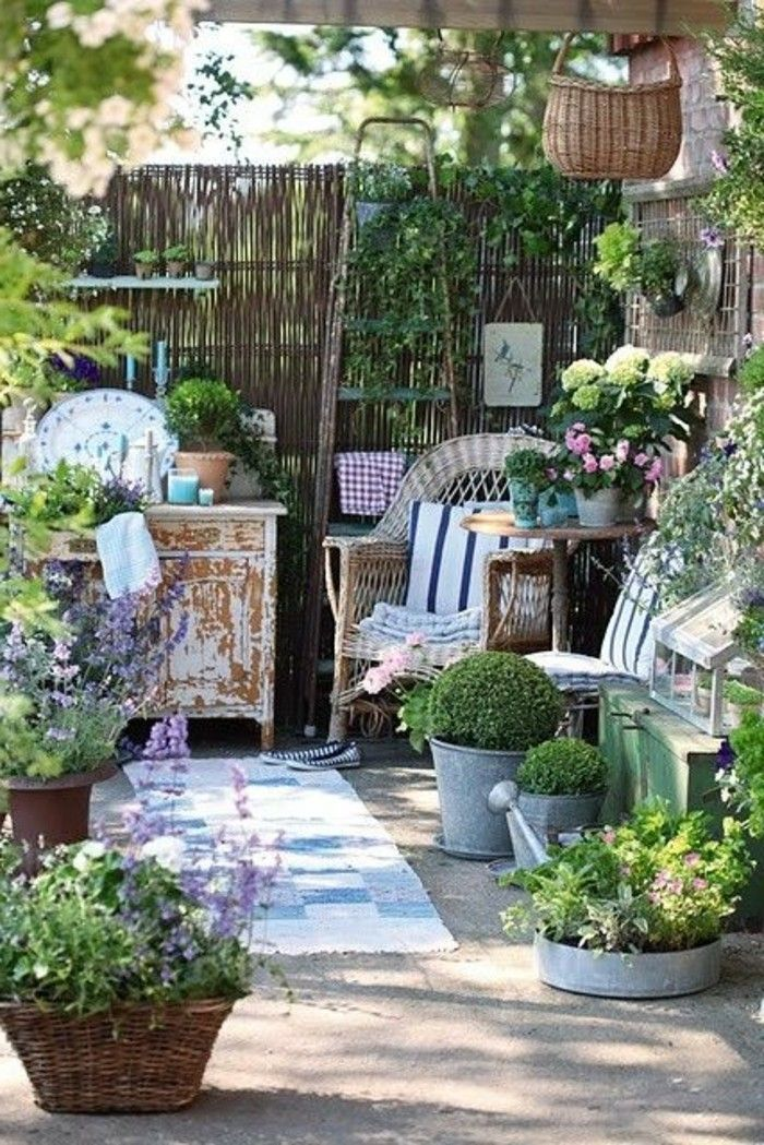 Photo of 40 examples of shabby chic garden with vintage flair – Archzine.net