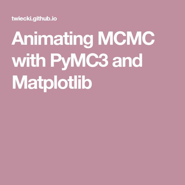 Animating MCMC with PyMC3 and Matplotlib | Bayesian