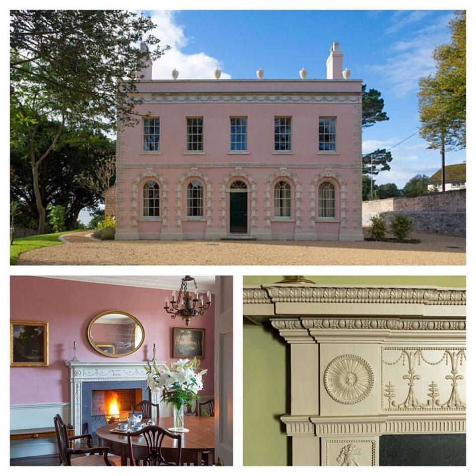 Restoration Of Belmont House In Lyme Regis Colours Used Nicaragua Granite Green Clay Belmont House Heritage Paint Colours House Styles