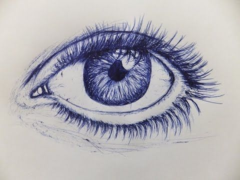 How To Draw An Eye With Ballpoint Pen | Human Face and Figure in