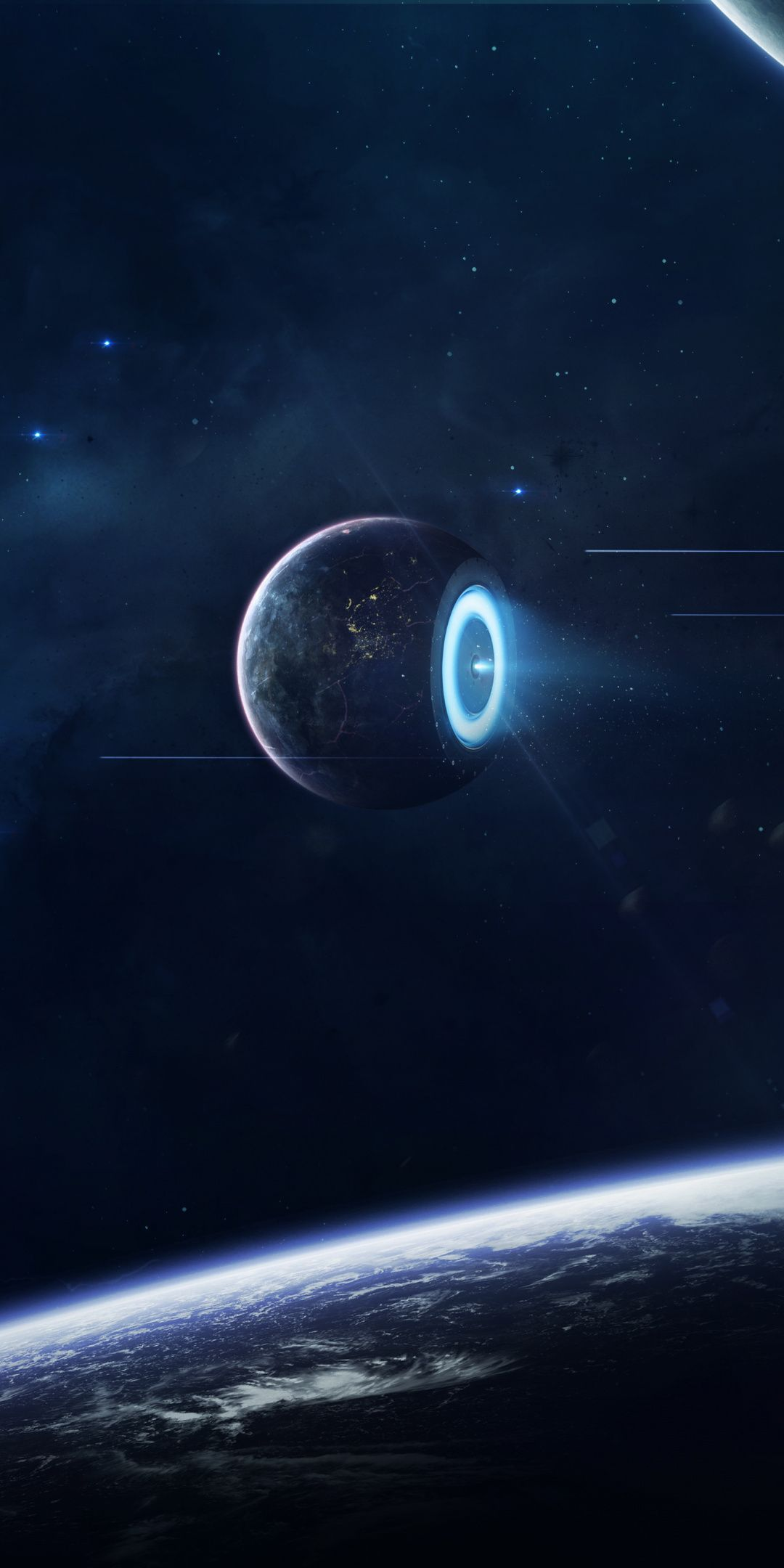 Ion Thruster Solar Salvation Radiation Planet Space Fantasy 1080x2160 Wallpaper Surreal Art Sci Fi Concept Art Planets