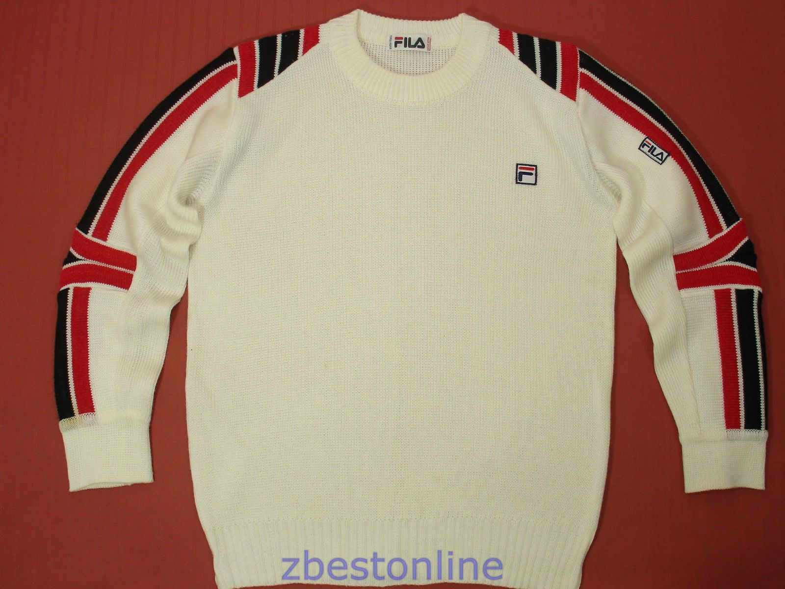 568f5ba16be Fila Vintage 80's Rare Wool Sweater Retro Ski Winter Snow Board Italy Mens S