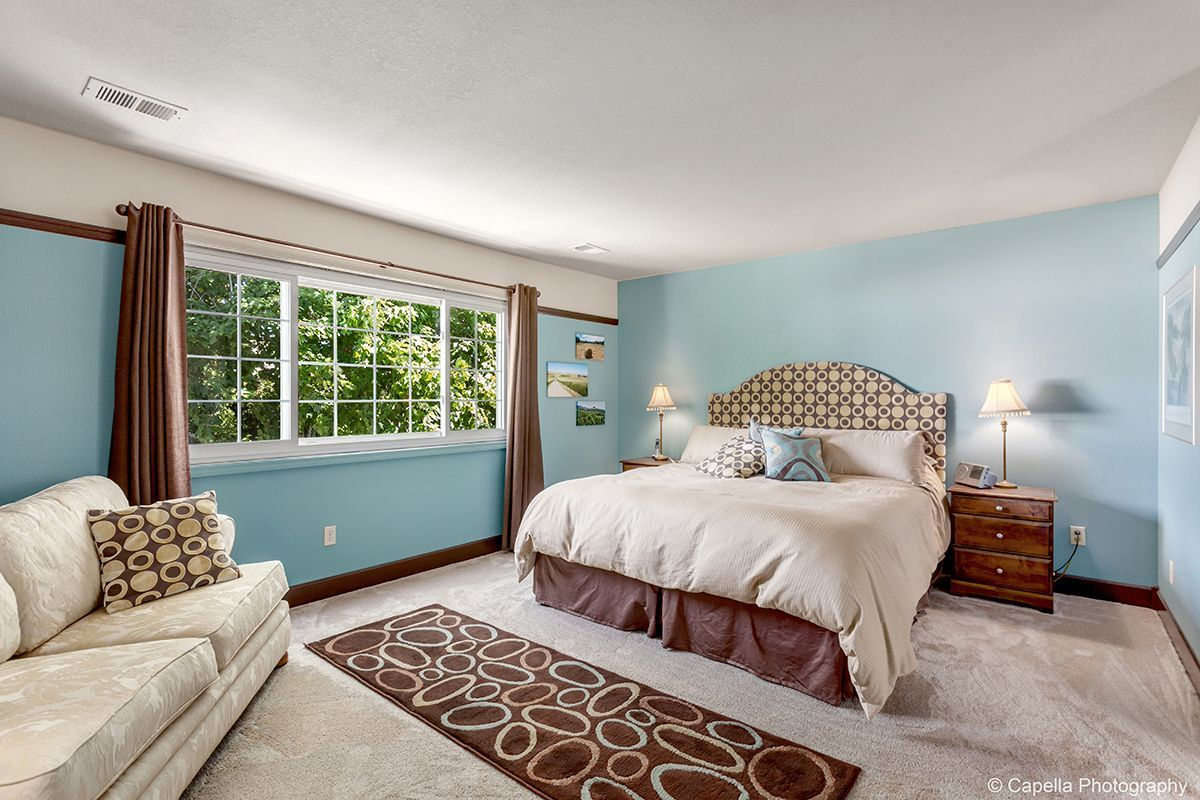 The master suite includes one of four bedrooms. Need a