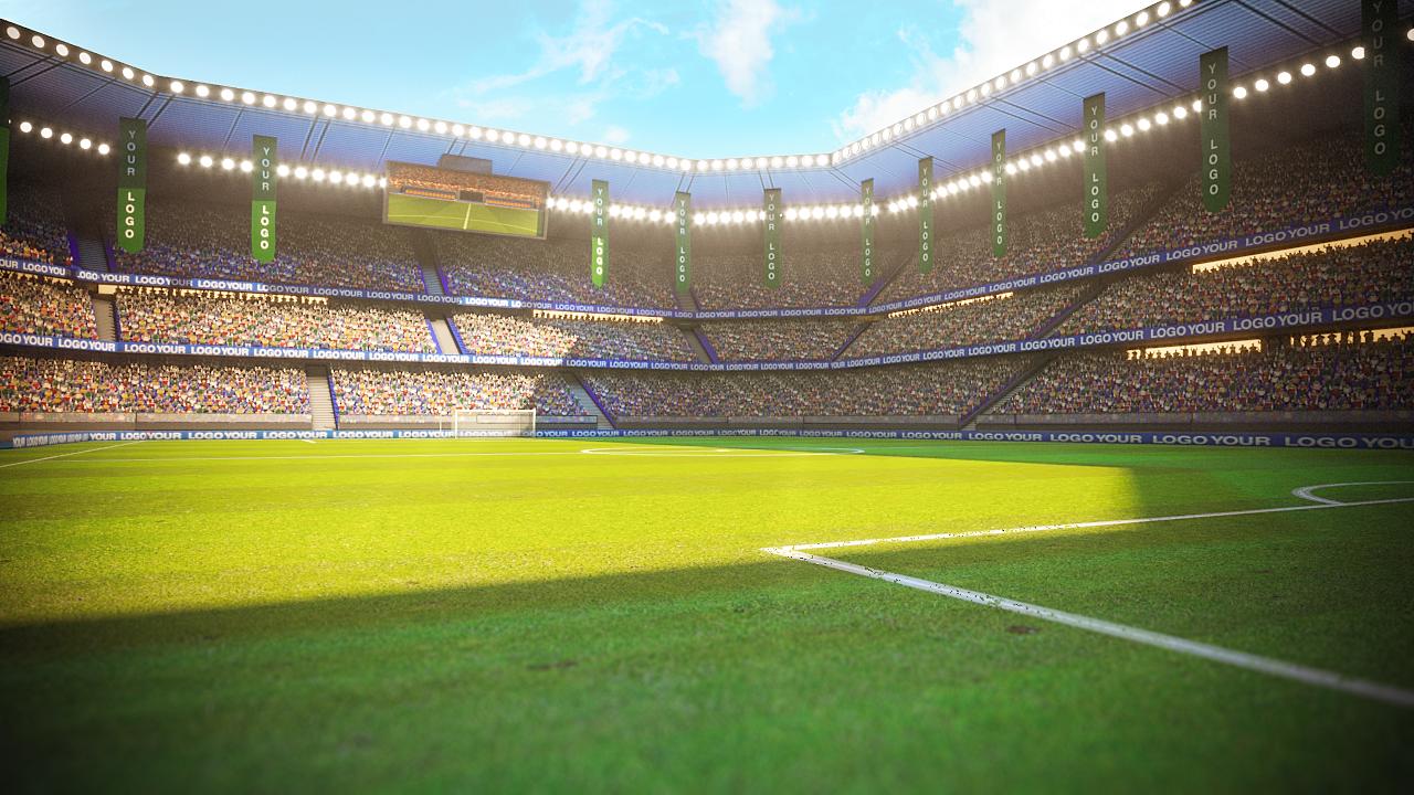 Football Soccer Stadium Game Ready 3d Model Soccer Stadium Soccer Stadium