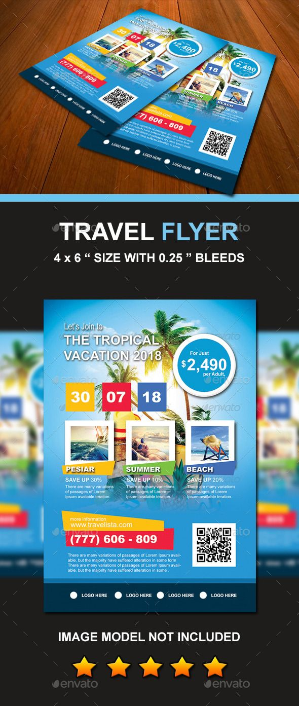 Travel  Vacation Flyer  Vacation Flyer Template And Template