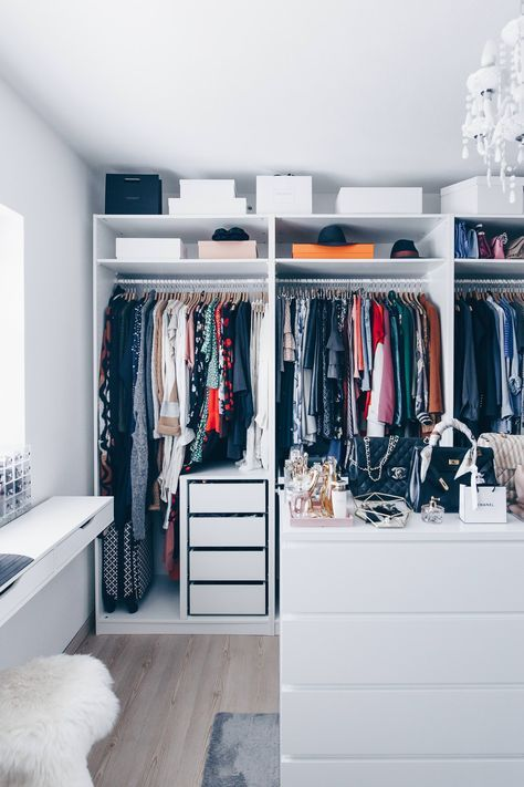 Begehbarer kleiderschrank ikea planen  So habe ich mein Ankleidezimmer eingerichtet und gestaltet ...