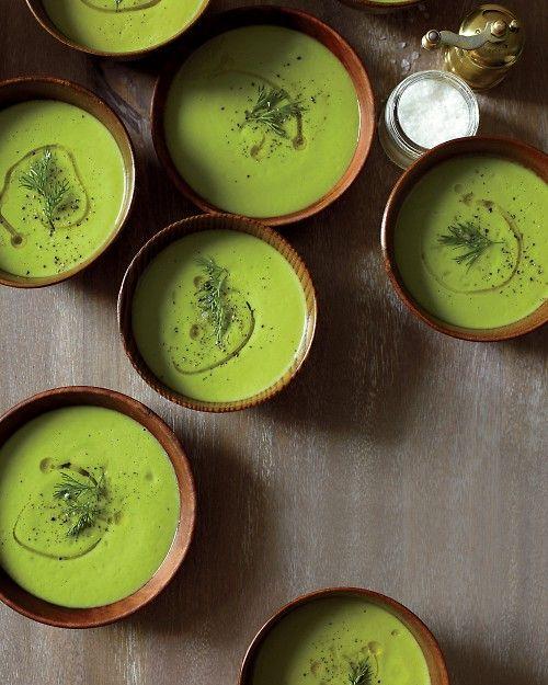 Creamy Cauliflower Soup with Greens - Martha Stewart Recipes #dairyfree #glutenfree #paleo