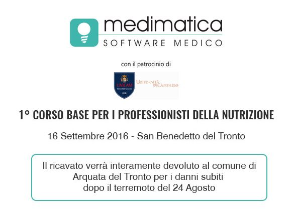 1° CORSO BASE PER I PROFESSIONISTI DELLA NUTRIZIONE - 10 ECM