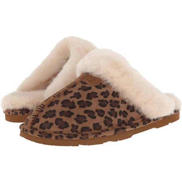 Bearpaw Loki II Women's Slippers ($25) ❤ liked on Polyvore featuring shoes, slippers and animal print