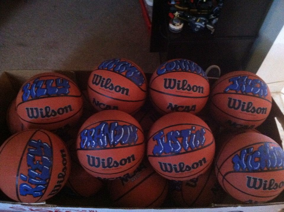 Personalized basketballs by CRE8ED4YOULISA on Etsy https