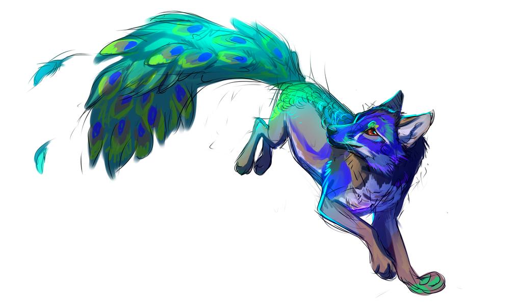 Daiton By Innalideviantartcom On DeviantART Mystical - Flying peacocks look like mythical creatures