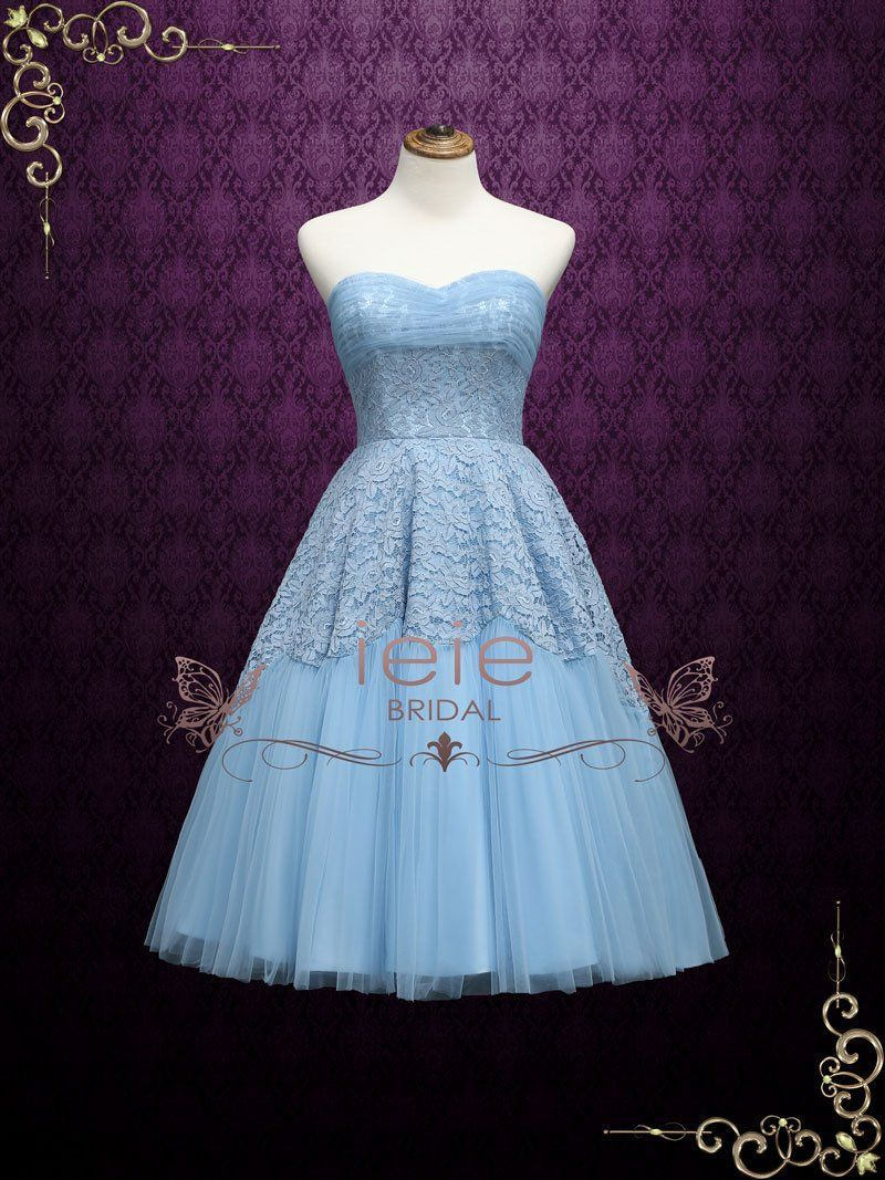 Inspired by prom dresses in the s and s this strapless blue