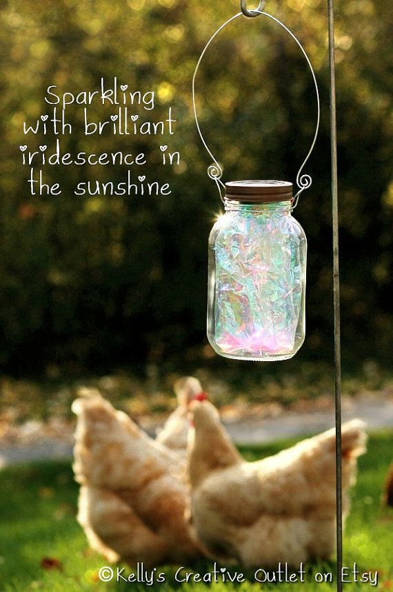 DIY And Craft   Mason Jar Lights Fairy Garden Solar Jar By  KellysCreativeOutlet