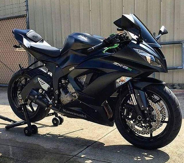 Matte Black Zx6r Kawasaki Ninja Motorcycles Pinterest Kawasaki