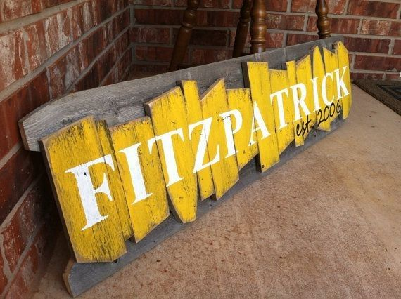 personalized painted diy wooden family name sign - wall decoration ...