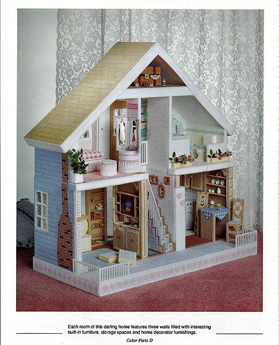 Buy Doll Furnishing Articles Resin Crafts Home Decoration: Fashion Doll House In Plastic Canvas Pattern Book