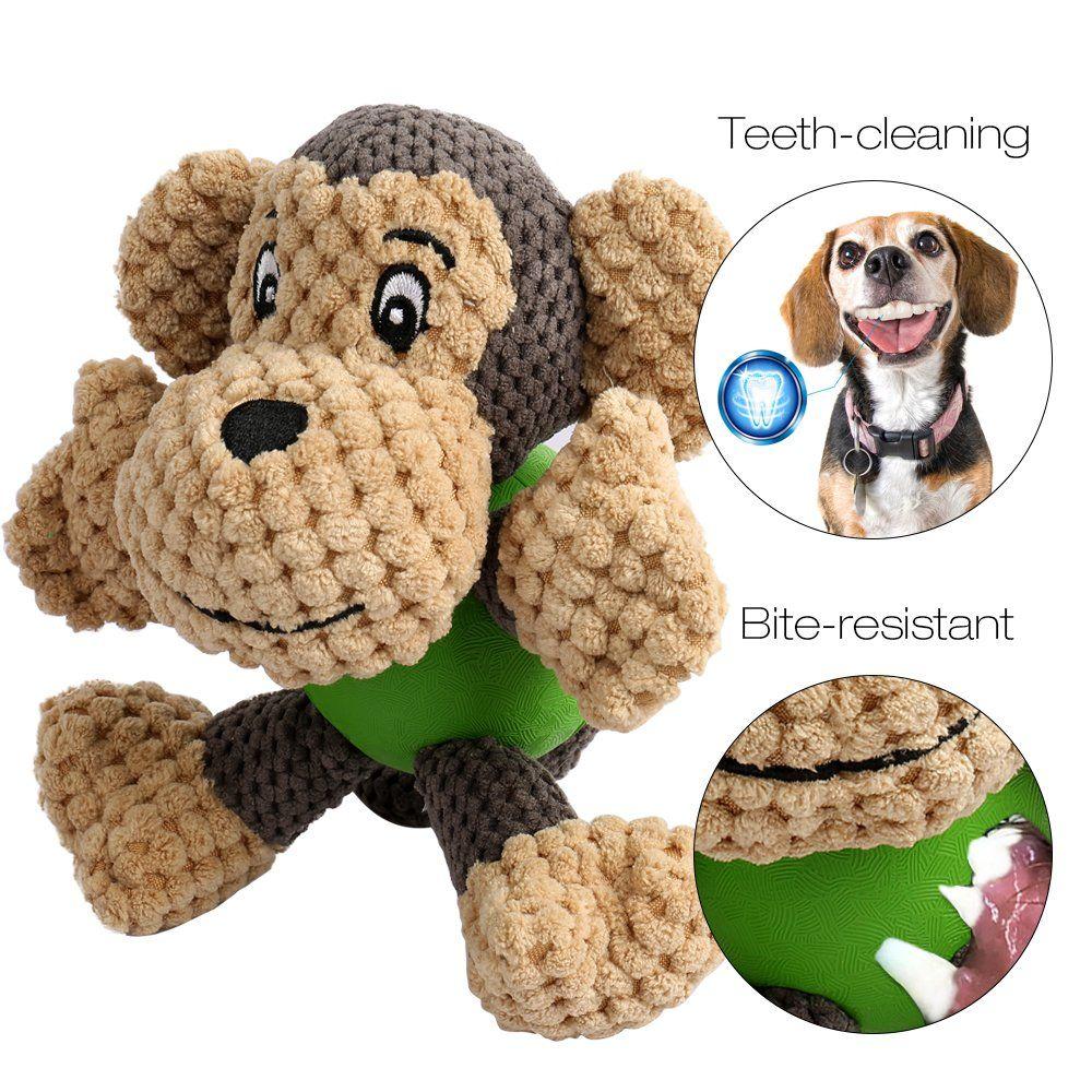 ONEISALL Dog Durable Squeaky Plush Toy Pet Training Biting