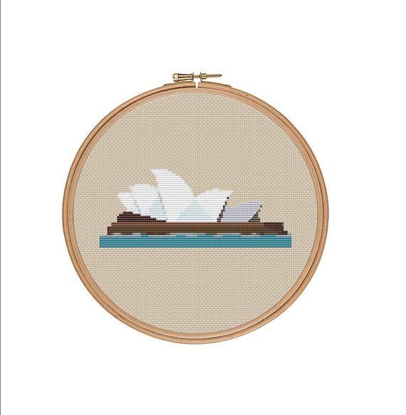 Sydney Cross Stitch Pattern Sydney Opera Cross Stitch Chart