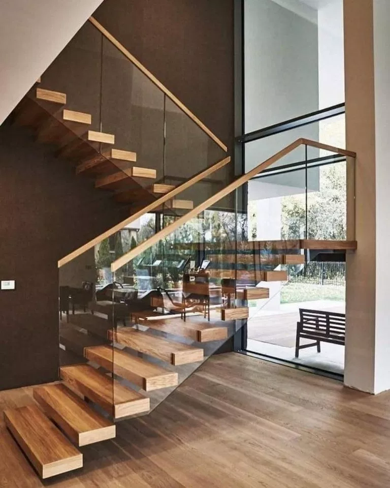 49 Beautiful Wooden Stair Design Ideas For Your Home 42