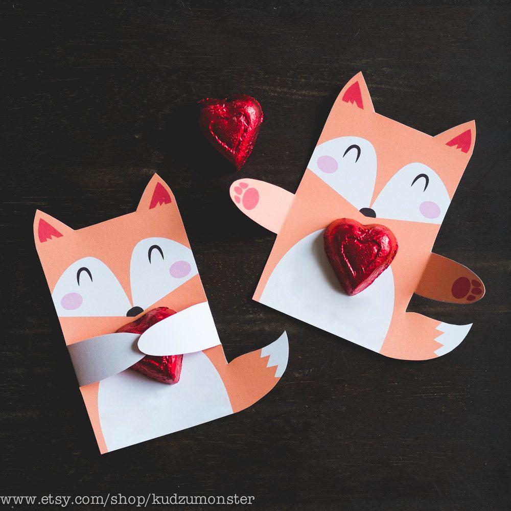 woodland fox birthday party candy holders printable diy