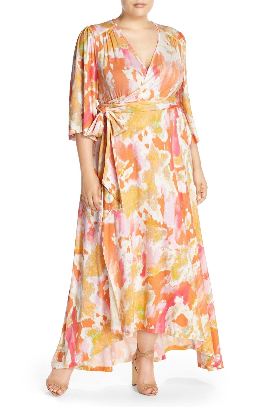 9dae2be8313 Melissa McCarthy Seven7 Kimono Style Maxi Dress (Plus Size) available at   Nordstrom