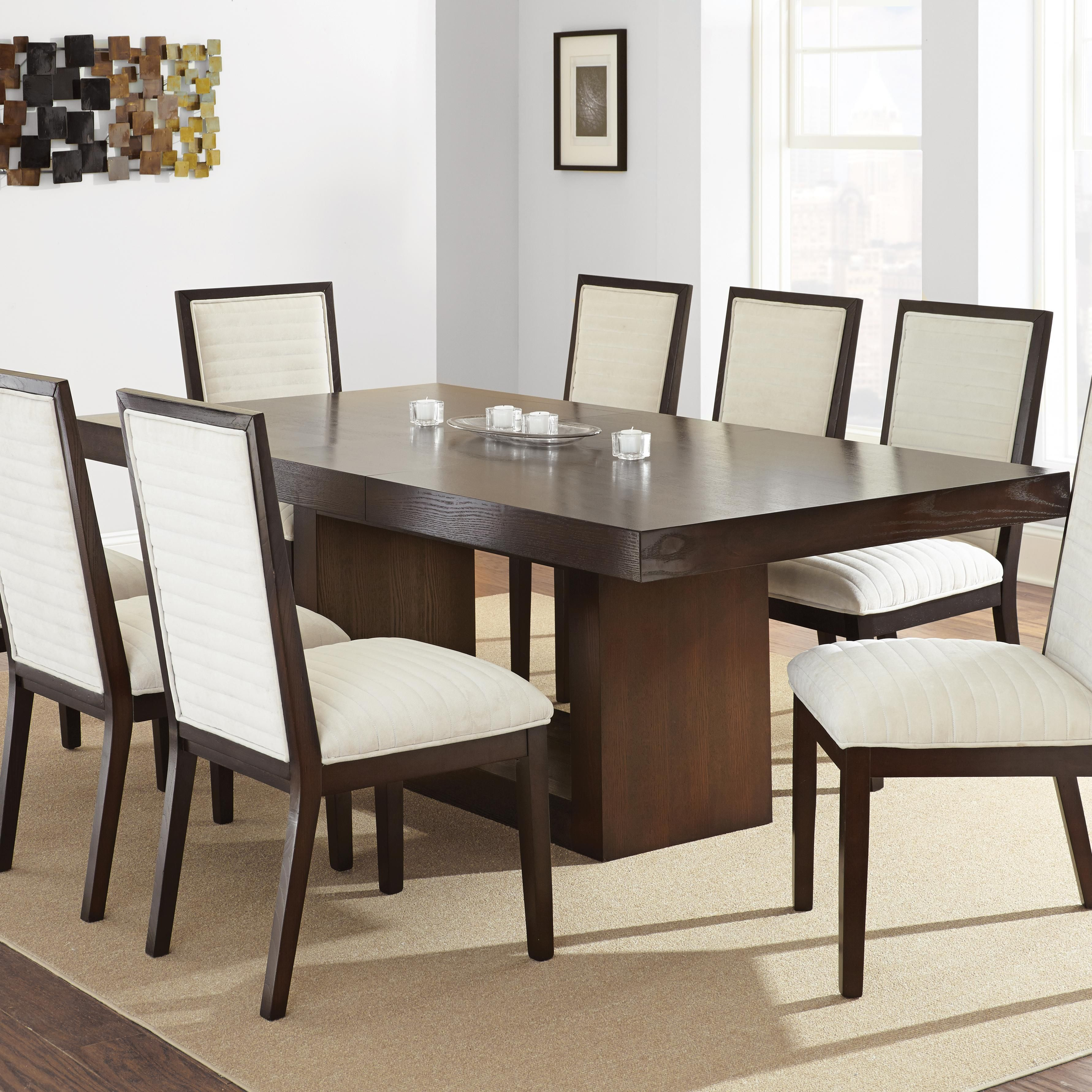 Antonio Dining Table With Contemporary Pedestal Base By Belfort