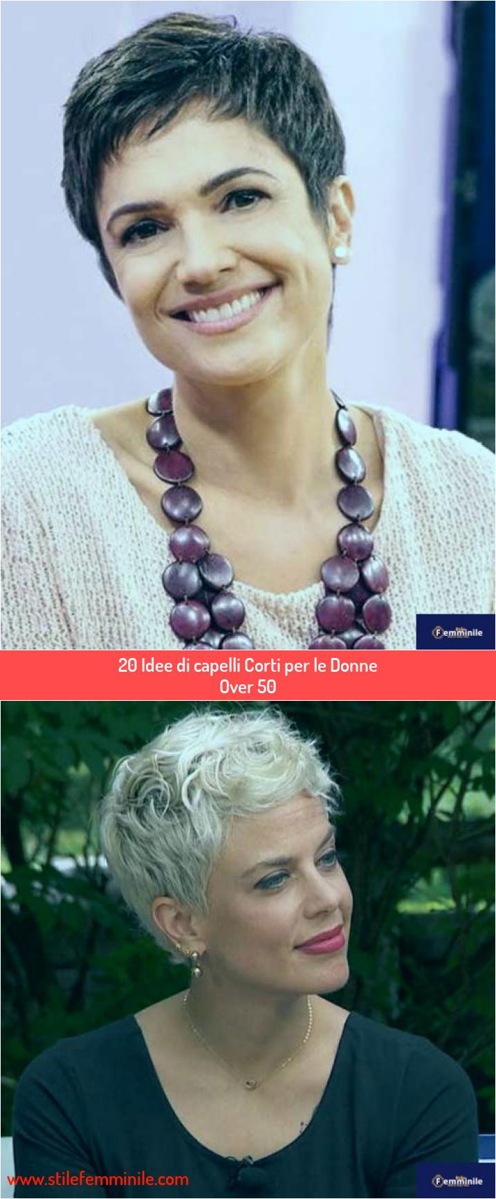 20 Idee di capelli Corti per le Donne Over 50 nel 2020 ...