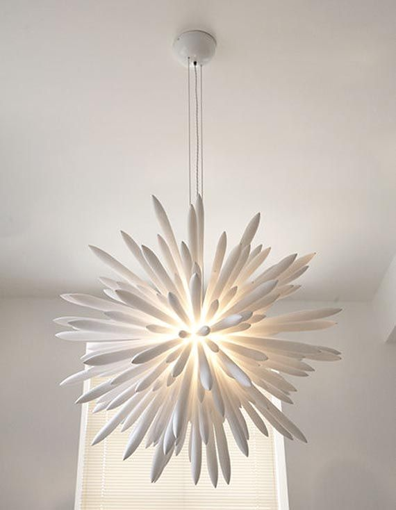 Unique Modern White Chandelier Design Home Interior Decorating