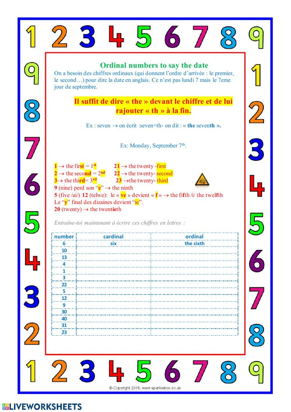 Say the date Interactive worksheet in 2020 Worksheets