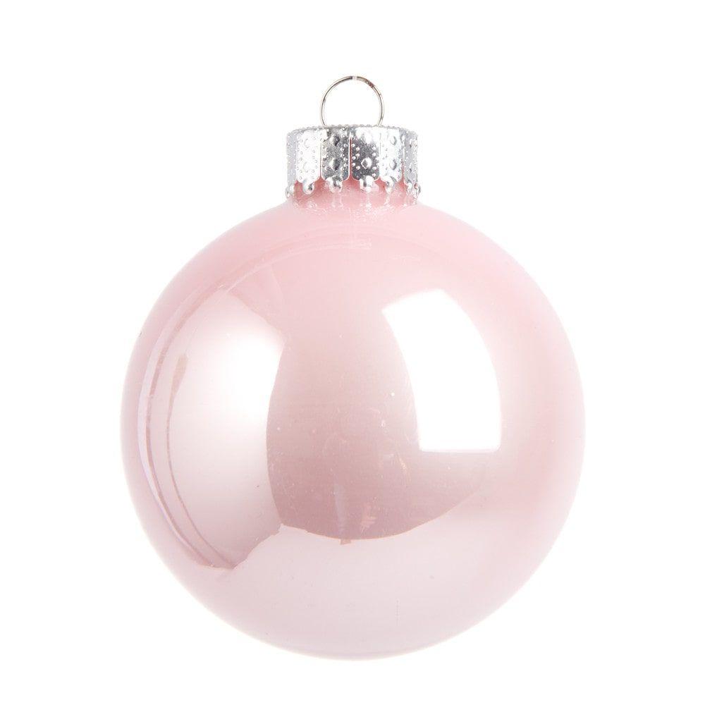 Boule de Noël en verre rose 7 cm OPAL | Maisons du Monde | Boules
