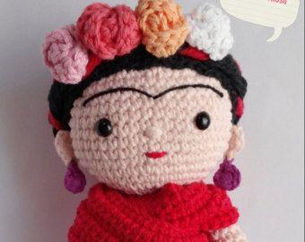 Amigurumi Frida Kahlo : Llavero de frida kahlo amigurumi keychain crochet