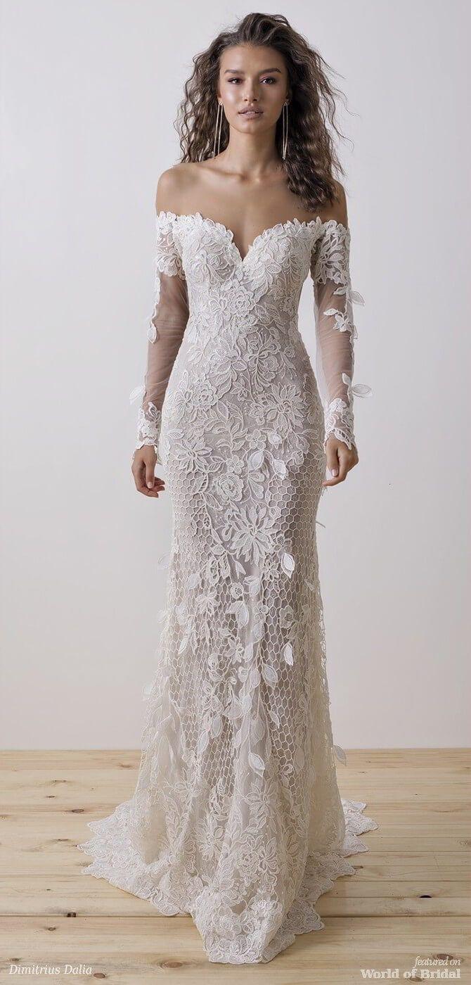 Dimitrius Dalia 2018 Wedding Dress #weddingdress | Boho Brautkleider ...